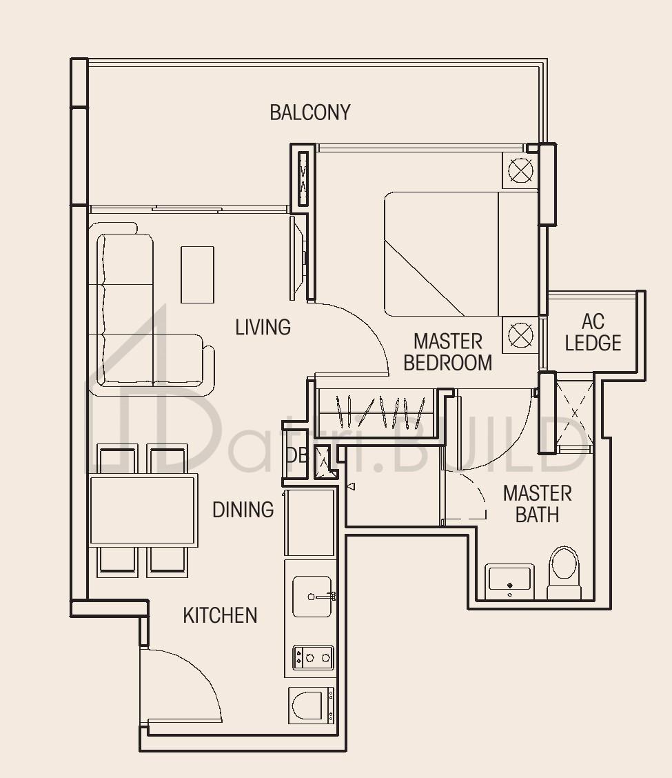 Auralis 1 Bedroom Type A1