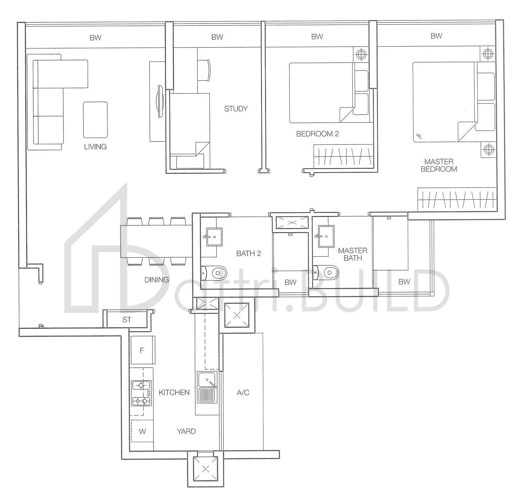 Caspian 2 Bedroom Type C1
