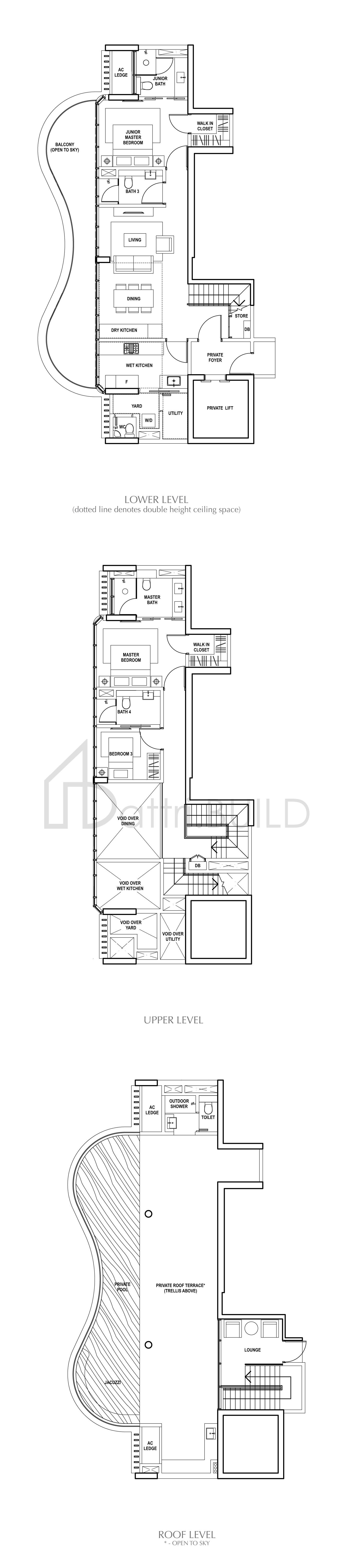 Amber Skye 3 Bedroom Type Penthouse 1