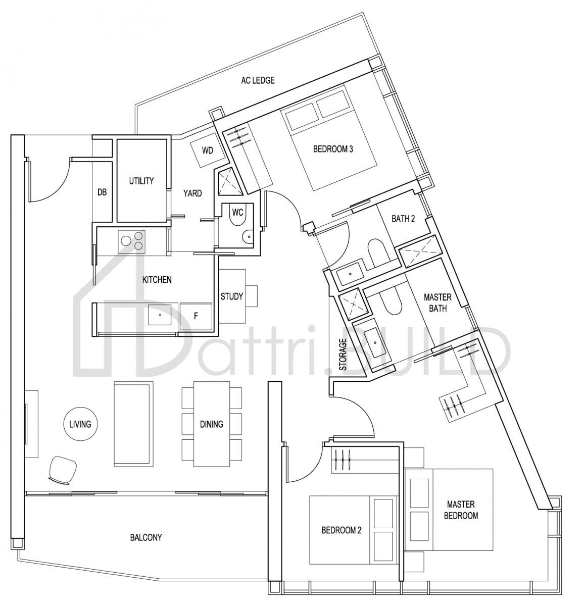 Artra 3 Bedroom Type C1