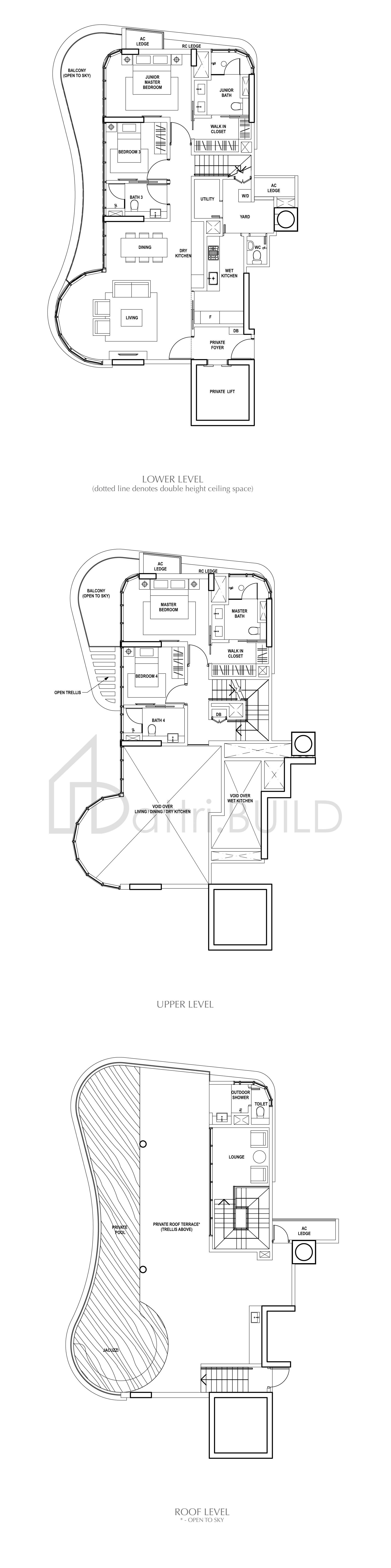 Amber Skye 4 Bedroom Type Penthouse 6