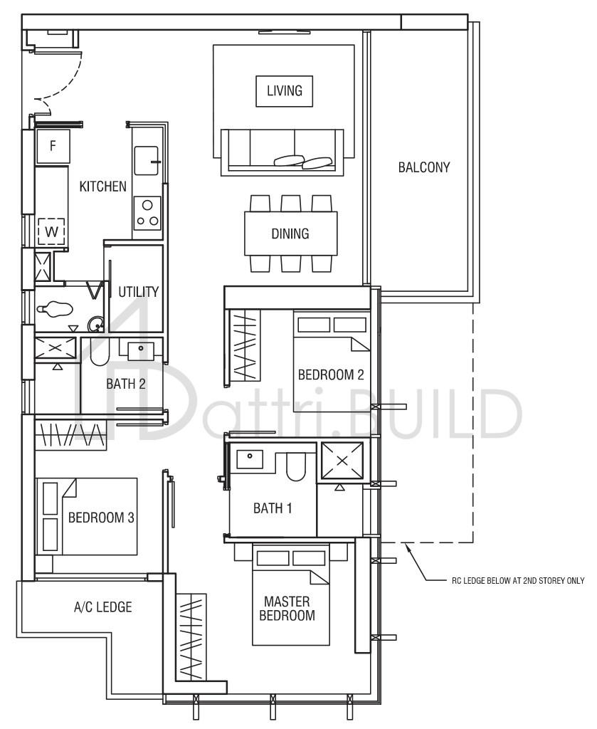 Alex Residences 3 Bedroom Type C2 1p