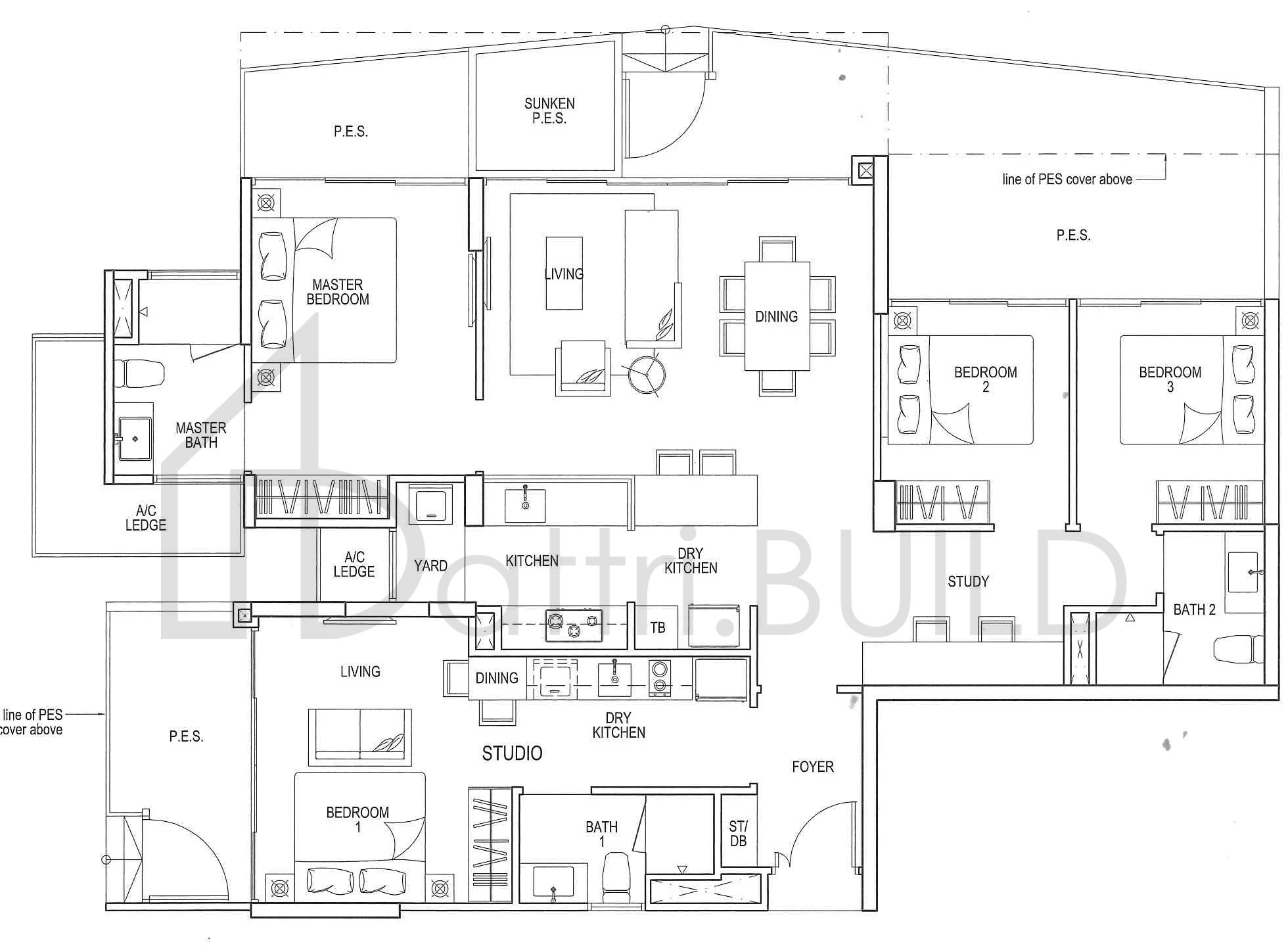 RIVER ISLES, 3 Bedroom, Type DS3 (DK)P