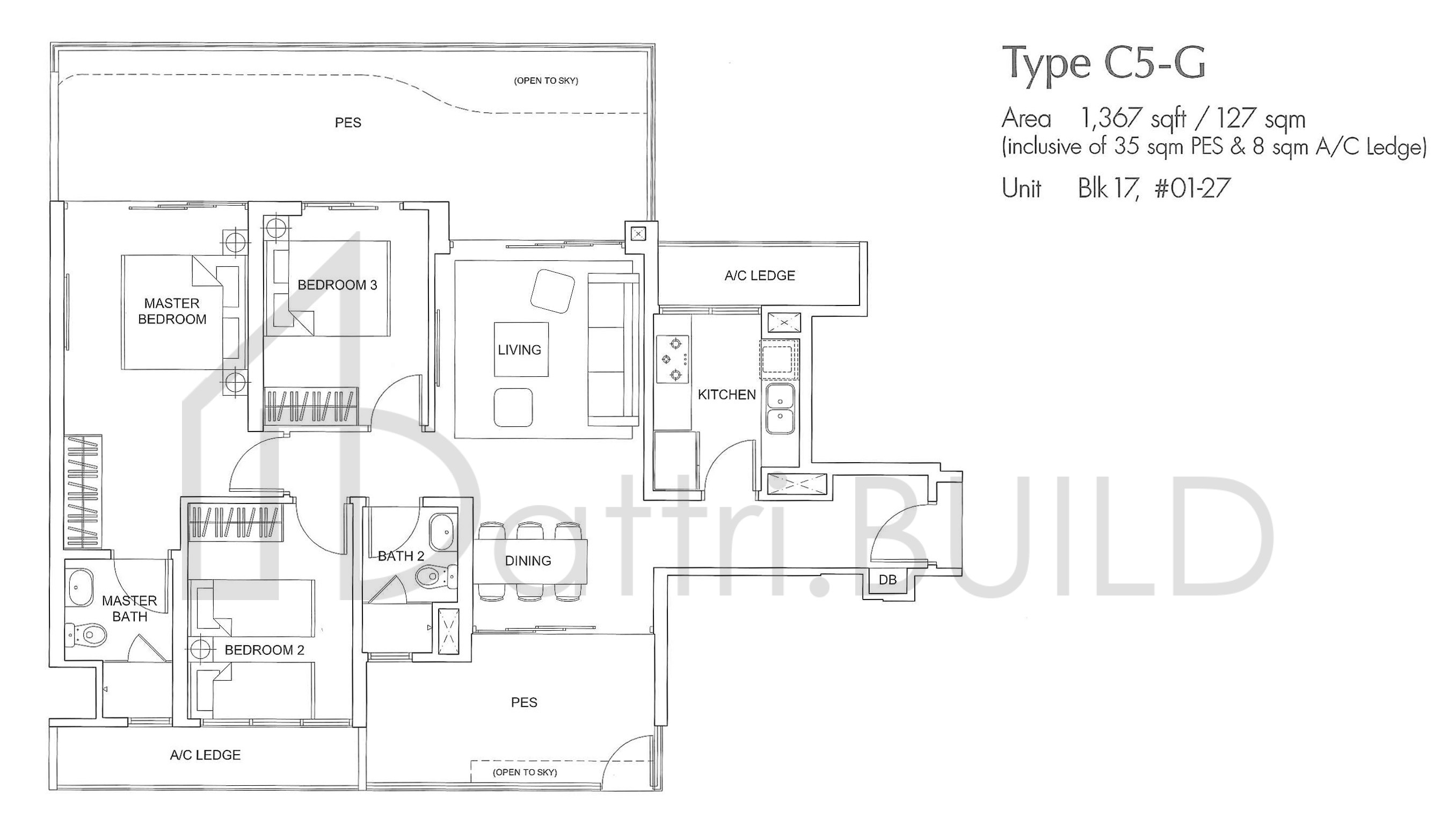 Arc At Tampines 3 Bedroom Type C5 G