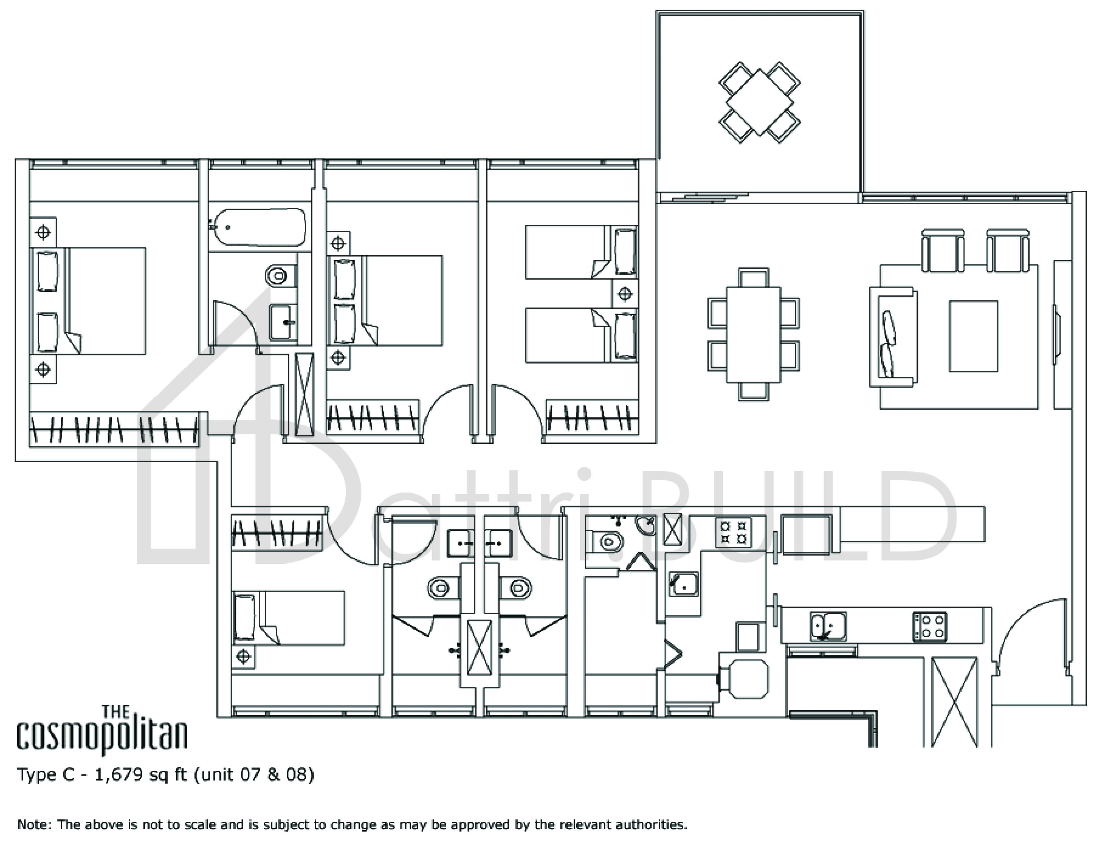 The Cosmopolitan 4 Bedroom Type C