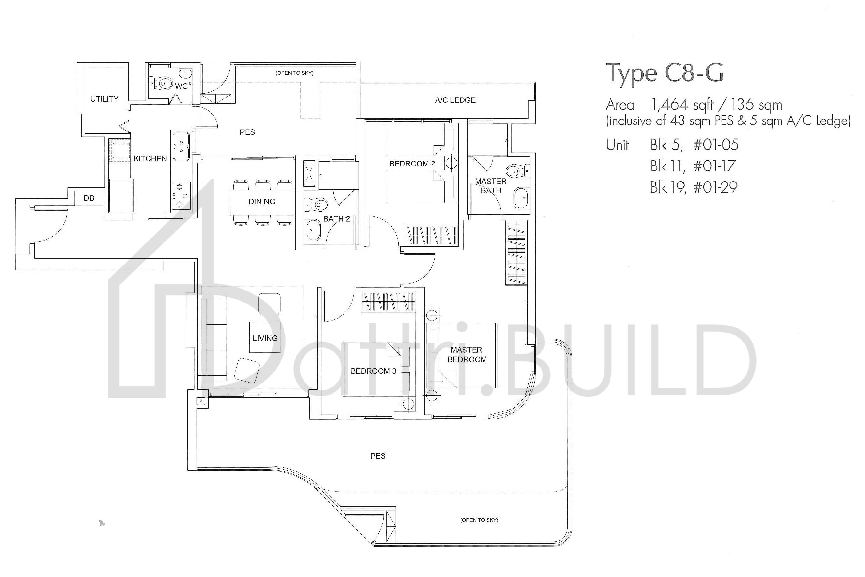 Arc At Tampines 3 Bedroom Type C8 G