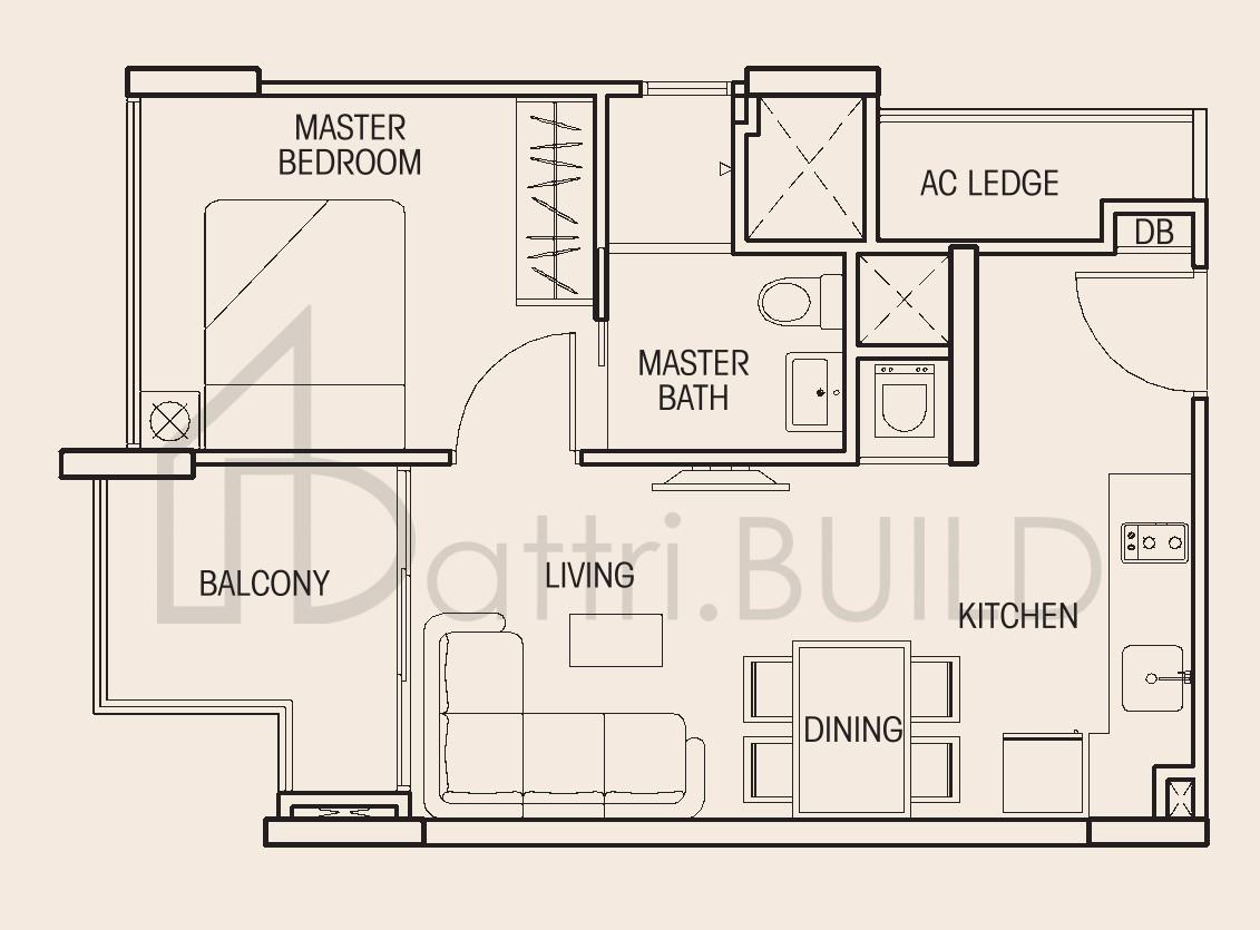 Auralis 1 Bedroom Type A3