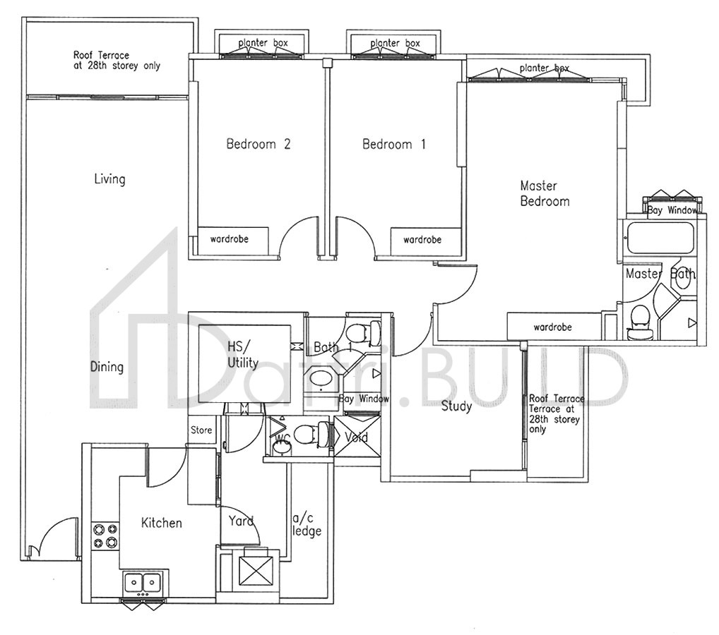 Bishan Loft 3 Bedroom Type B1 R
