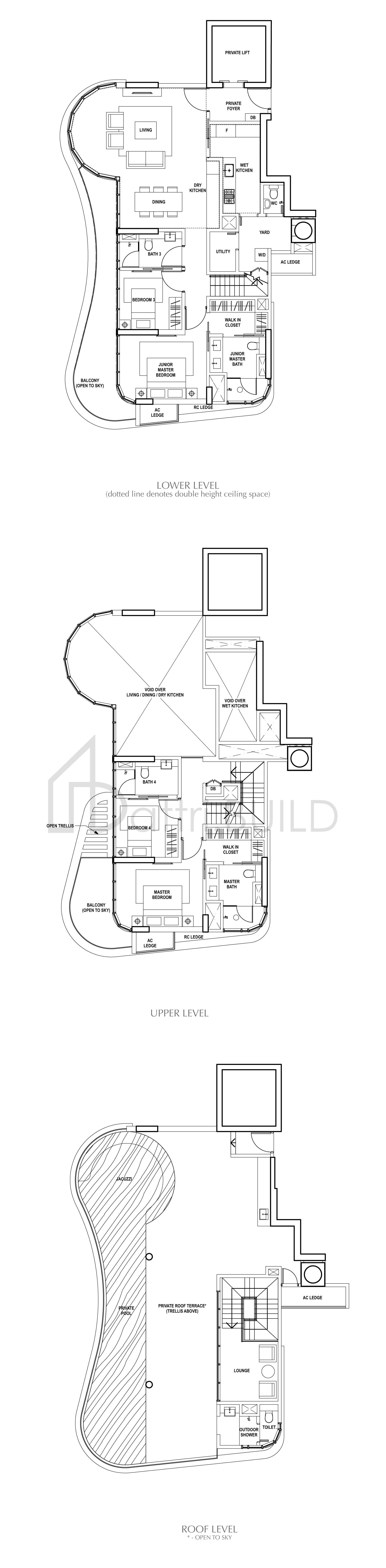 Amber Skye 4 Bedroom Type Penthouse 5