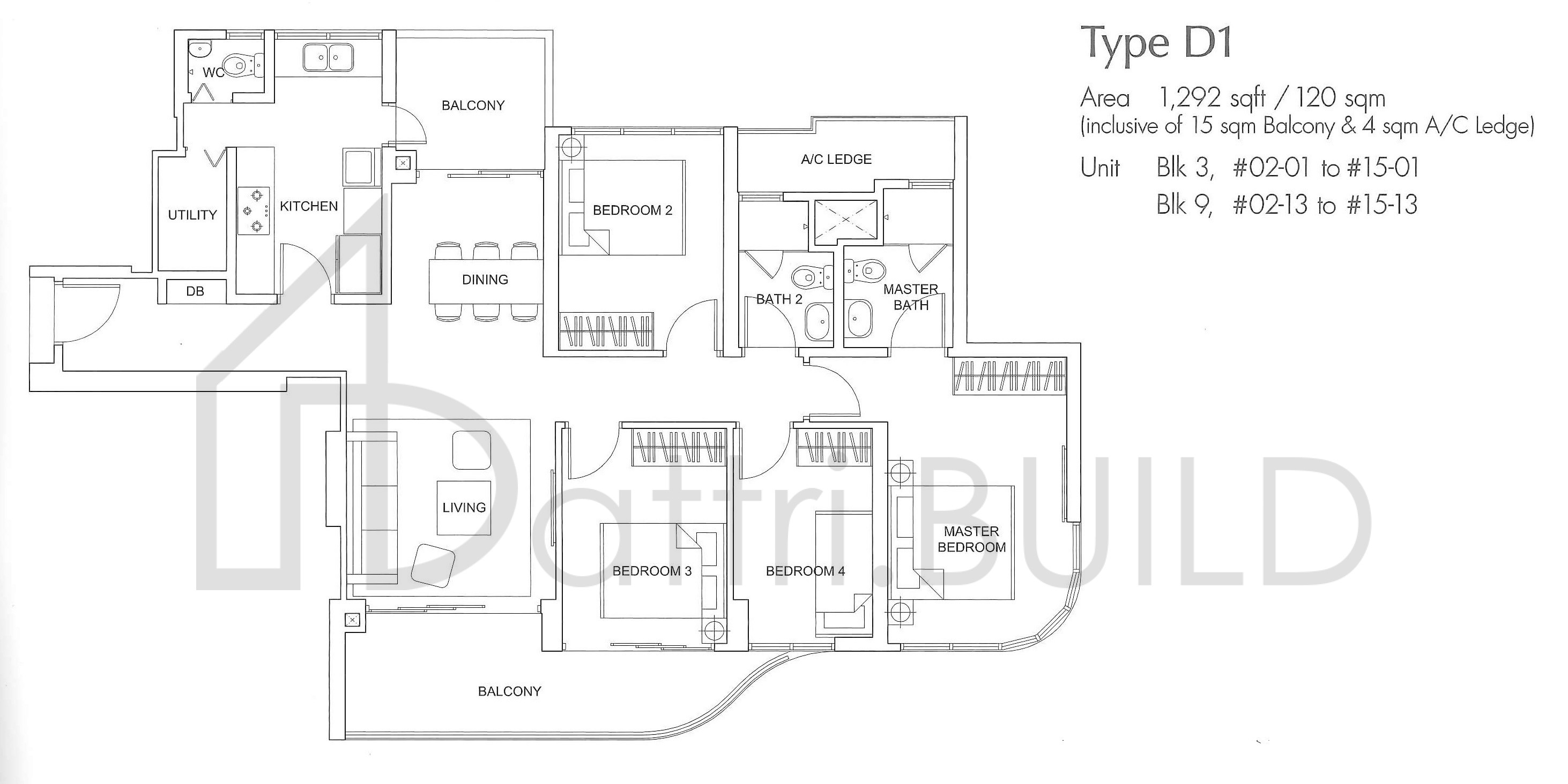 Arc At Tampines 4 Bedroom Type D1