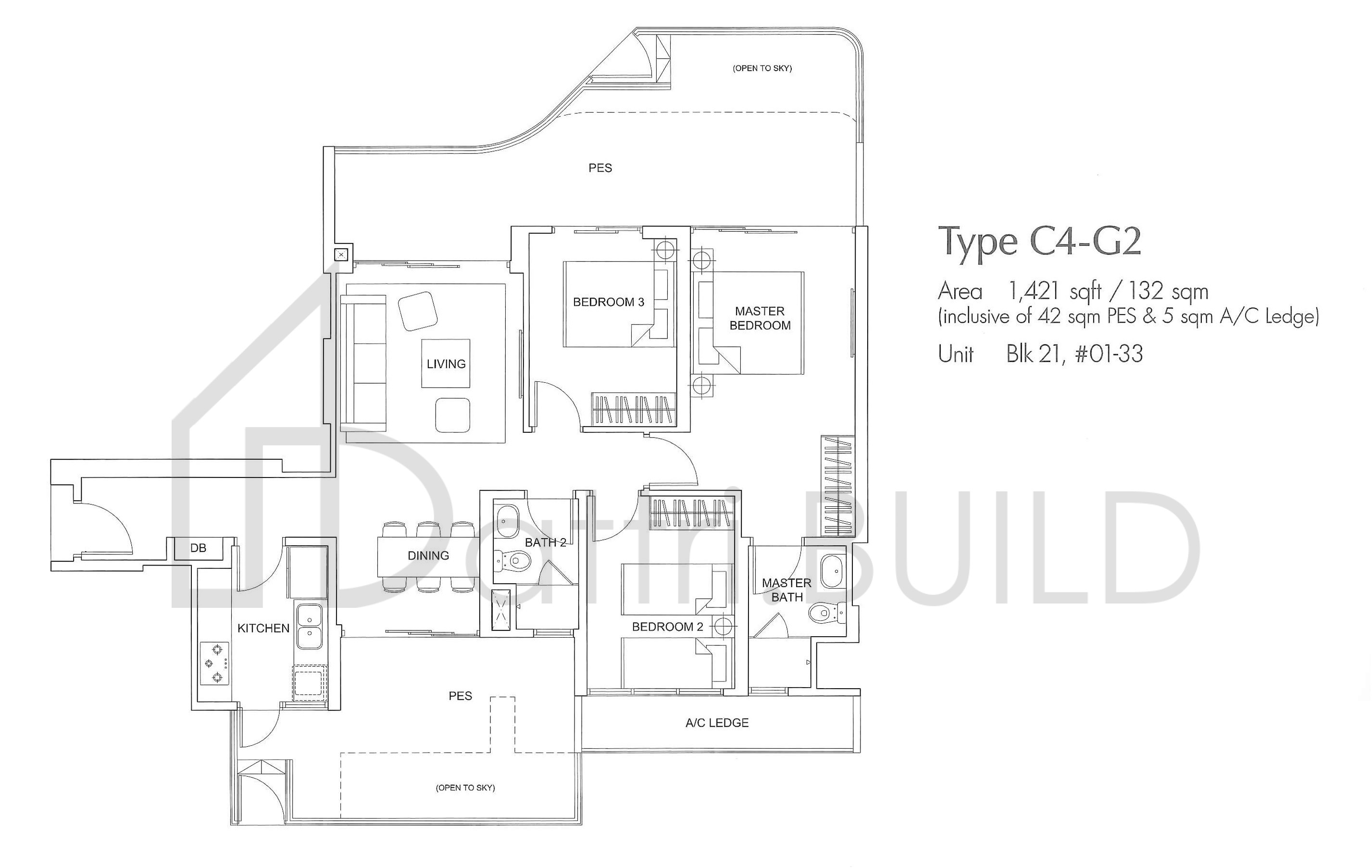 Arc At Tampines 3 Bedroom Type C4 G2