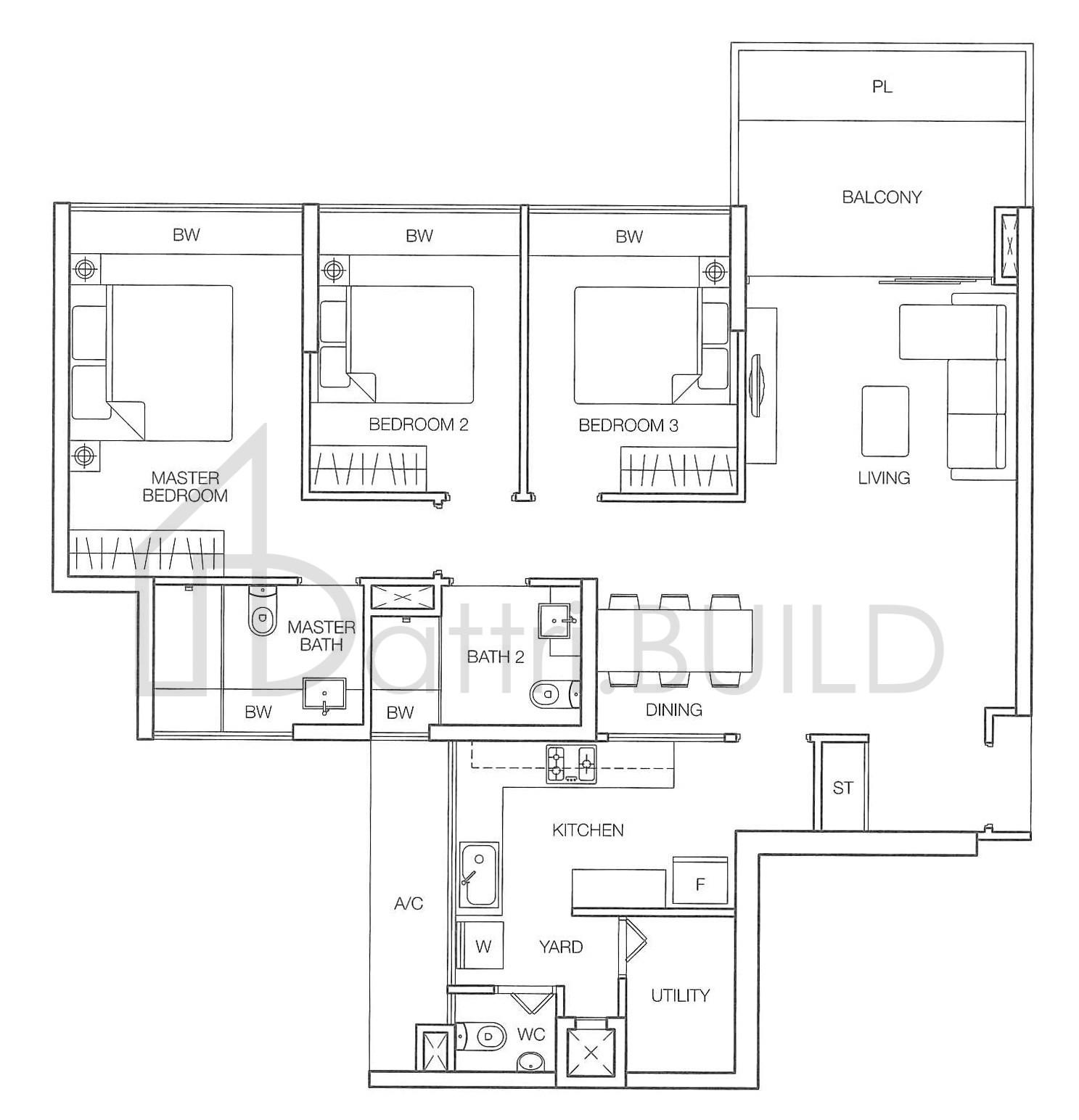 Caspian 3 Bedroom Type D1