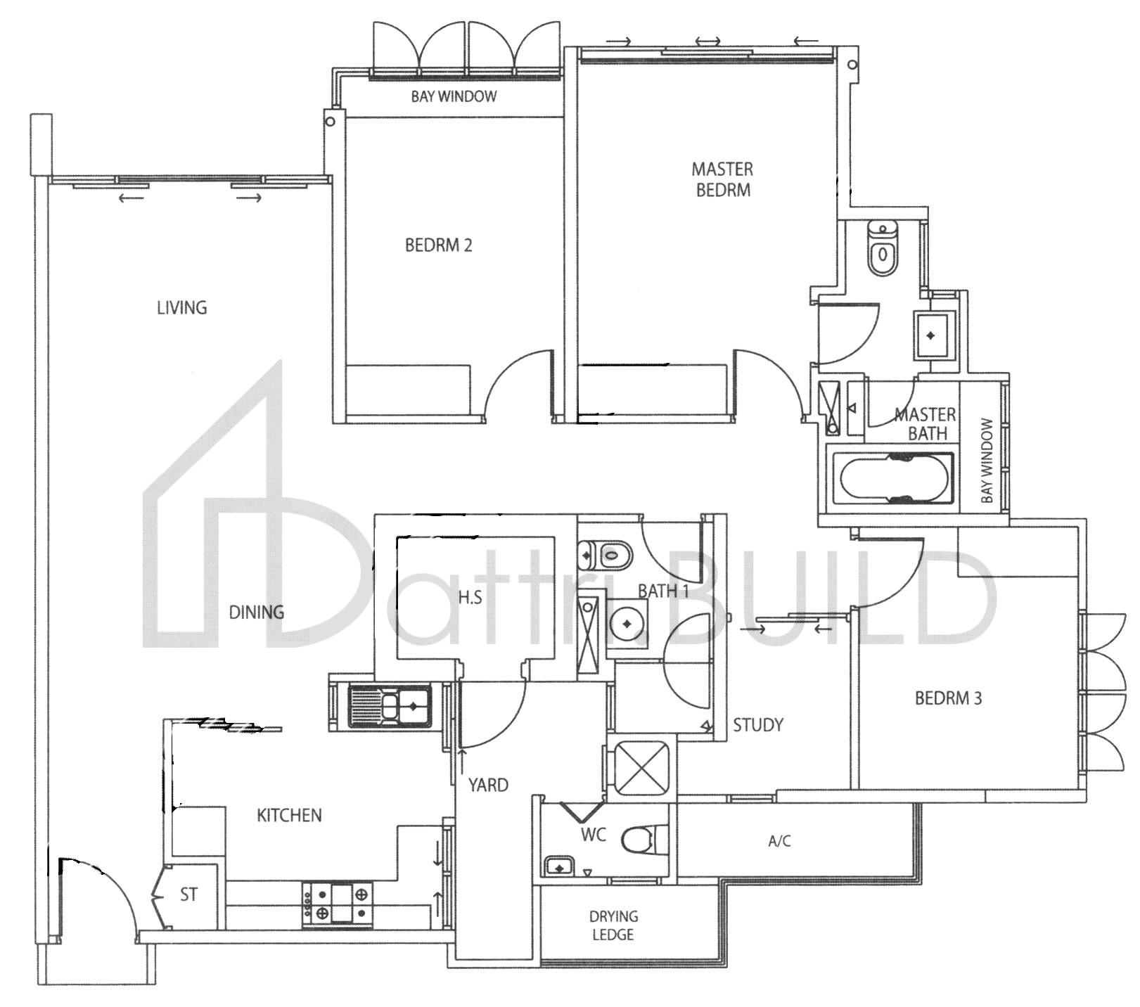 Grandeur 8 3 Bedroom Type B7