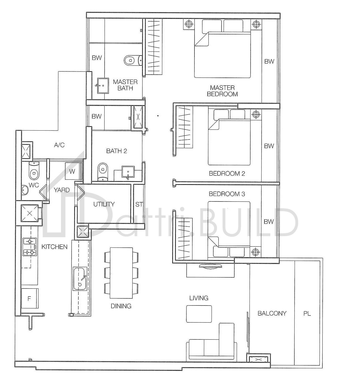 Caspian 3 Bedroom Type D4