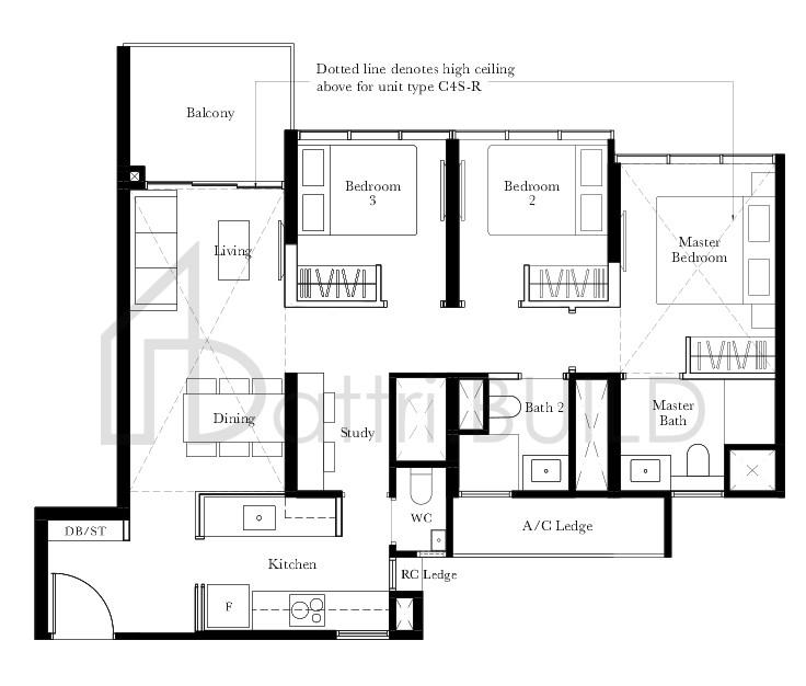 The Garden Residences 3 Bedroom Type C4s