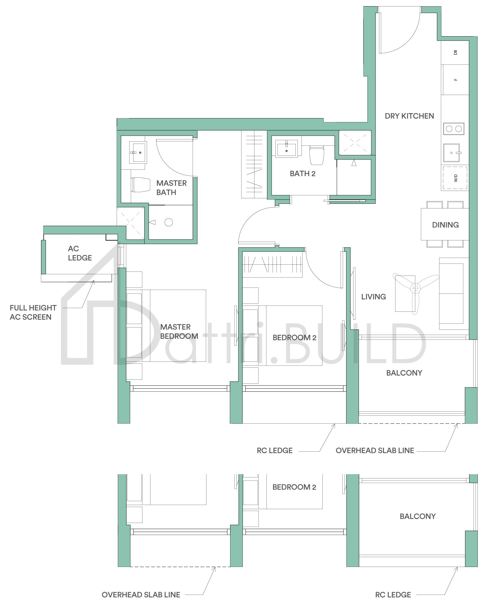 Park Place Residences At Plq 2 Bedroom Type C1