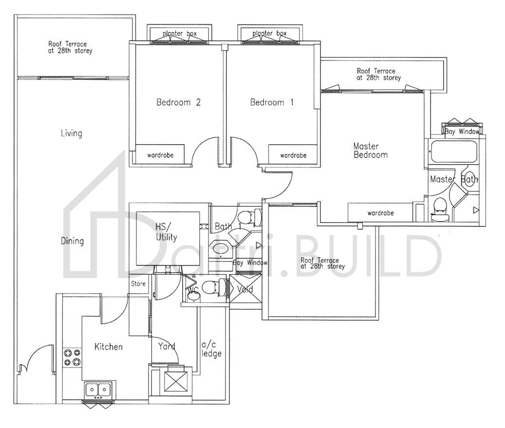 Bishan Loft 3 Bedroom Type A1 Re