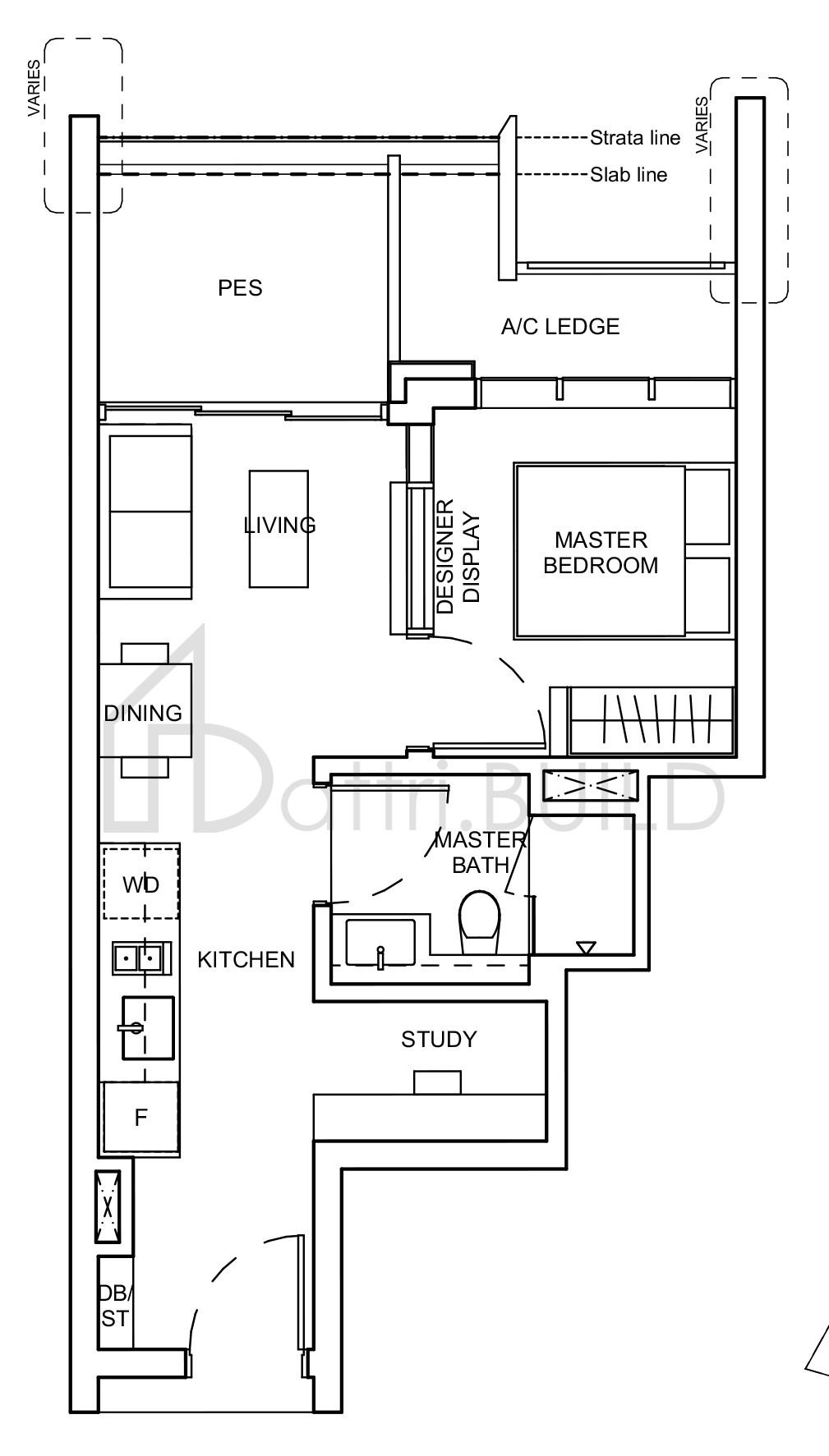 Haus On Handy 1 Bedroom Type A4s P