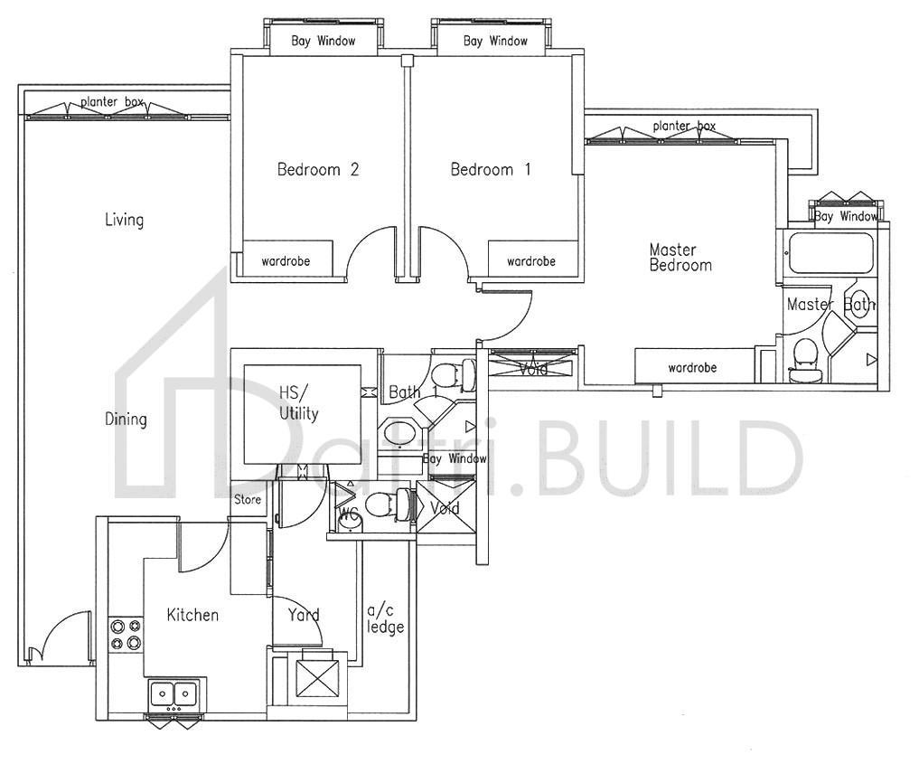 Bishan Loft 3 Bedroom Type A1 P