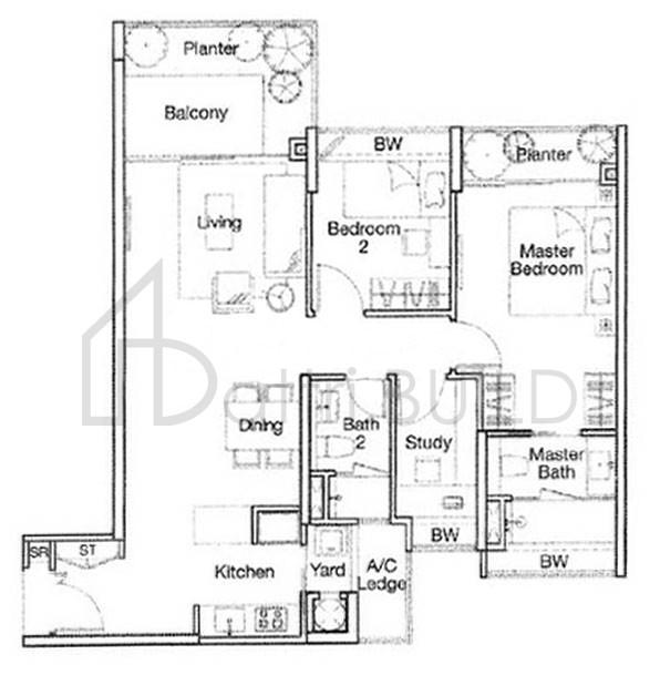 Optima Tanah Merah 2 Bedroom Type Bs3